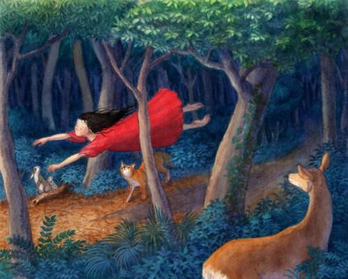 peroinu    [I've had this dream.  tlh]: Deviantart, Web Design, Deviant Art, Shinya Okayama, Childhood Dreams, Okayama Art, Children Illustrations, Watercolor Acrylics, Beautiful Illustrations
