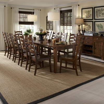 A America Toluca Extendable Dining Table In Distressed Rustic Amber.  Possible New Dining Room