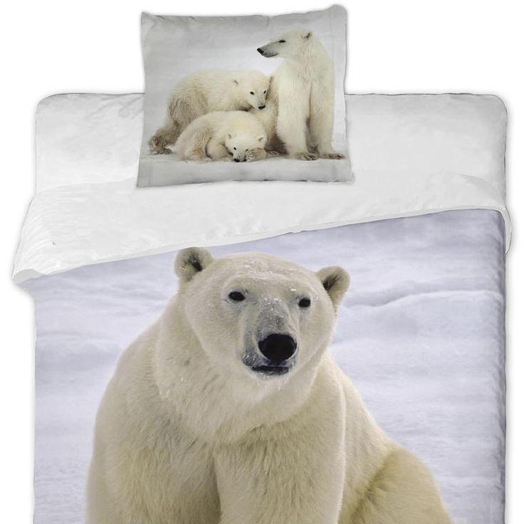 Bavlněné ložní povlečení - Polární medvědi - decoDoma