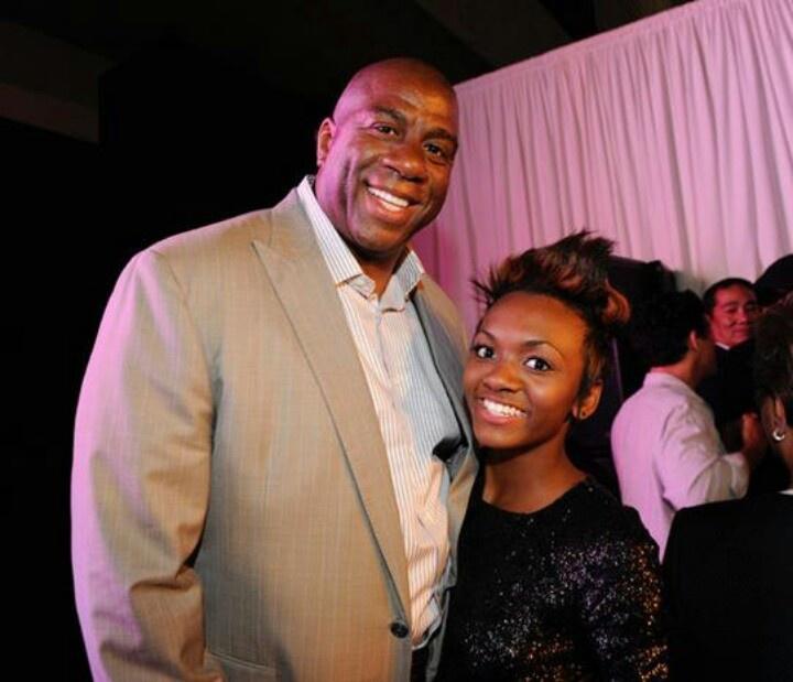 Magic Johnson & Daughter