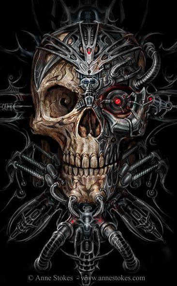 Bio Skull ©Anne Stokes