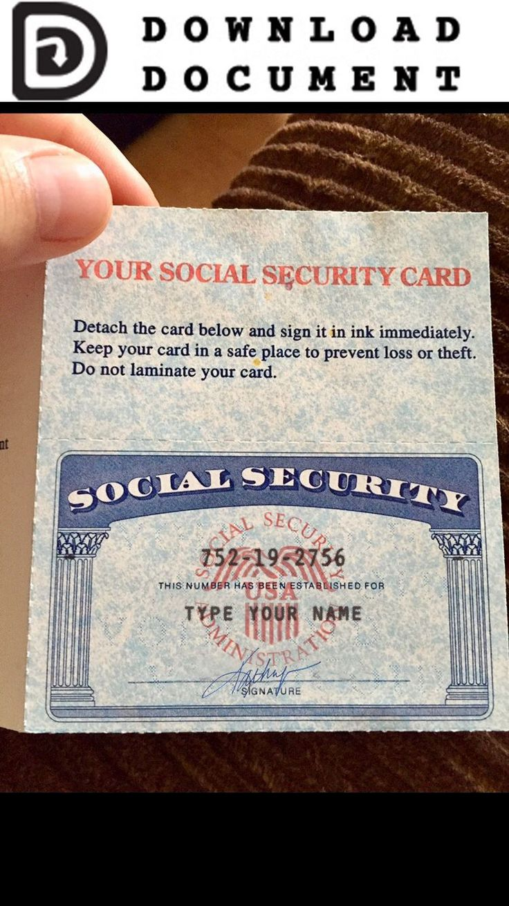 Social Security Template Social Security Card Cards Money Template