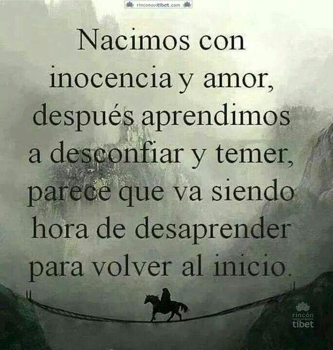 Inocencia Y Amor Vs Desconfianza Y Temor Frases Pinterest