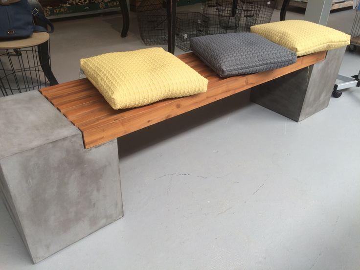 diy beton holz bank ideen rund ums haus pinterest gardens. Black Bedroom Furniture Sets. Home Design Ideas