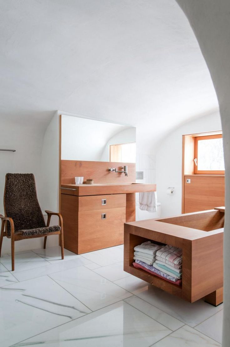Renowacja wiejskiego domu we włoskich Alpach / Othmar Prenner – nowoczesna STODOŁA   wnętrza & DESIGN   projekty DOMÓW   dom STODOŁA