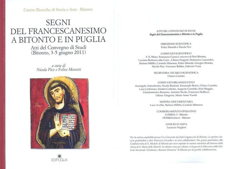 """Coordinamento operativo """"Segni del Francescanesimo a Bitonto e in Puglia"""" - Atti del Convegno di Studi"""