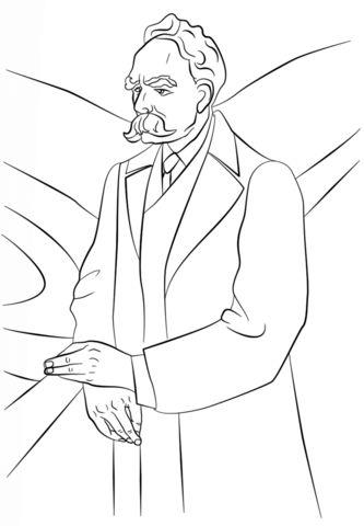 friedrich wilhelm nietzsche coloring page