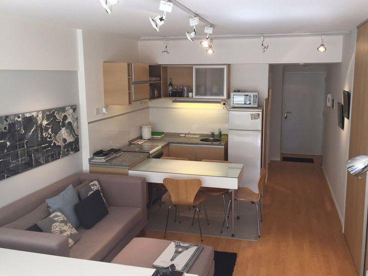 Cocina sal n comedor y dormitorio en 32 m2 salon for Dormitorio y cocina