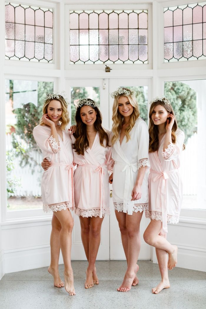 9 Elegant Blush Robes for You and Your Bridesmaids