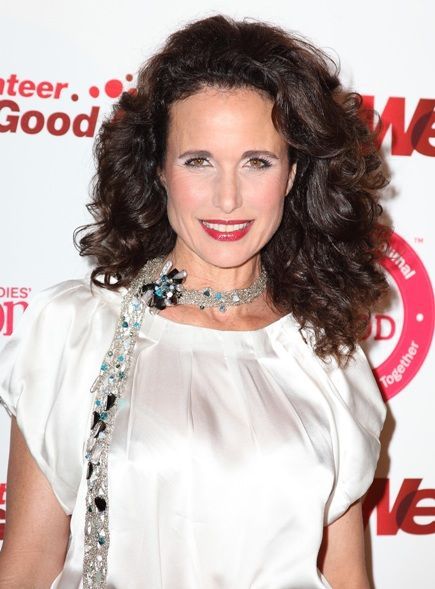 hair style with hair 115 best images about andie macdowell on 6691