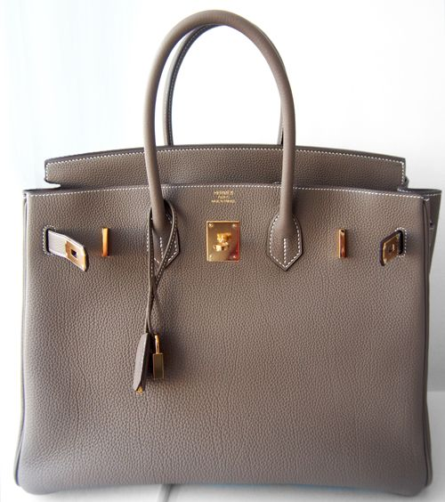 Hermes Birkin Bag 35cm Etoupe Taupe Tote Ghw Togo