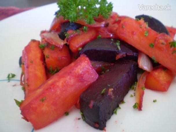 Cvikla pečená so sladkými zemiakmi (fotorecept) - Recept