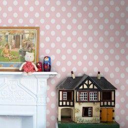 Παιδική Ταπετσαρία Τοίχου Ροζ Σχέδιο Πουά Disney Deco 3006-3-Διάσταση Ρολού ( 0,53 Χ 10,05 m)