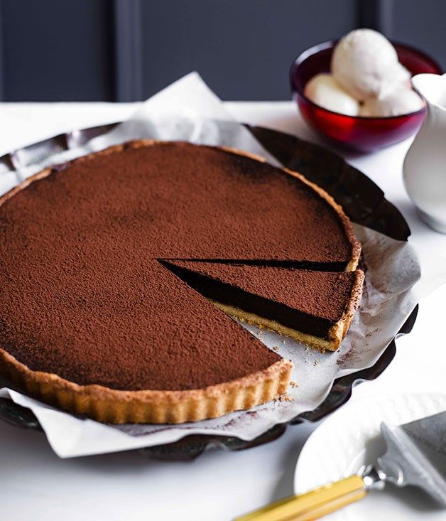 Australian Gourmet Traveller recipe for chocolate tart.