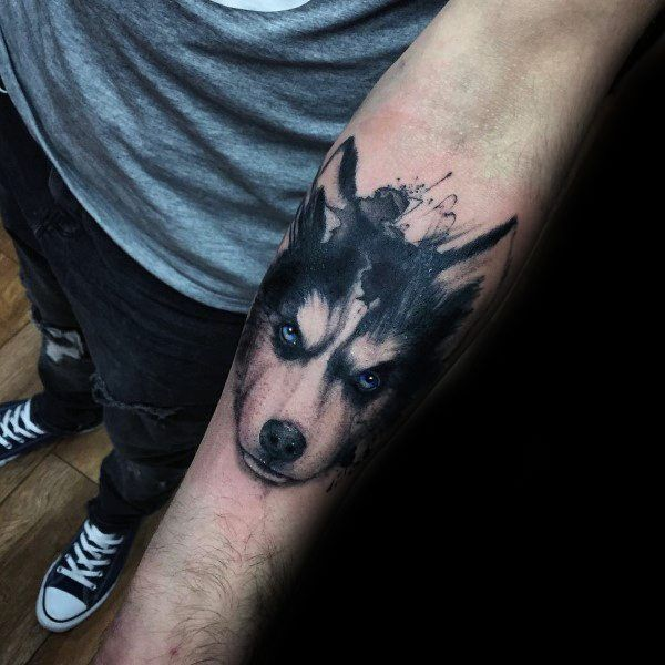 Siberian Husky Tattoo Husky Tattoo Design Husky Tattoo Husky