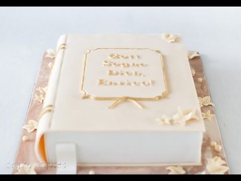 Book-shaped cake - short step-by-step tutorial