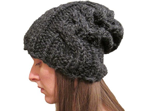 Slouchy Cable Knit Hat Pattern : 1000+ images about Knit Slouchy Hats I love. on Pinterest Gentleness, ...