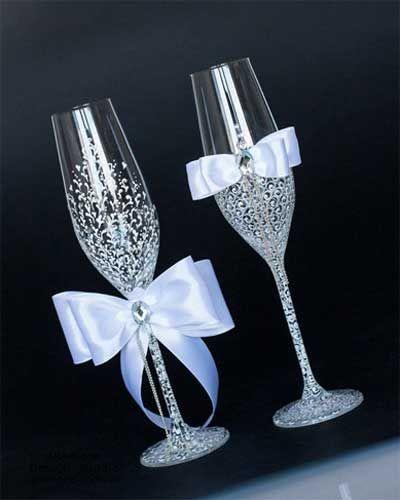 свадебные бокалы своими руками канзаши - Поиск в Google