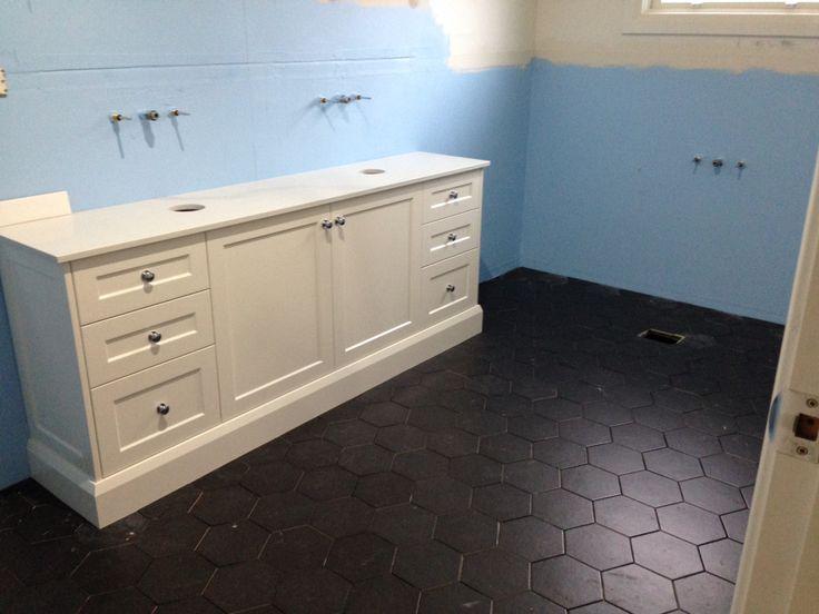 Tiles down and looking good on bathroom Reno