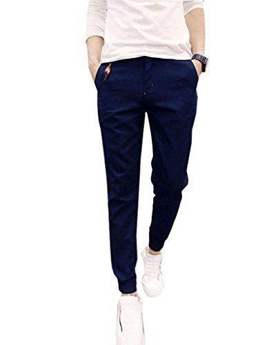 Minetom Pantalons pour Hommes, Garçons Pantalons Casual Jogging Sarouel Pants Svelte Pantalon ( Marine FR 38 ( Taille 74-78 cm ) ): Tweet…