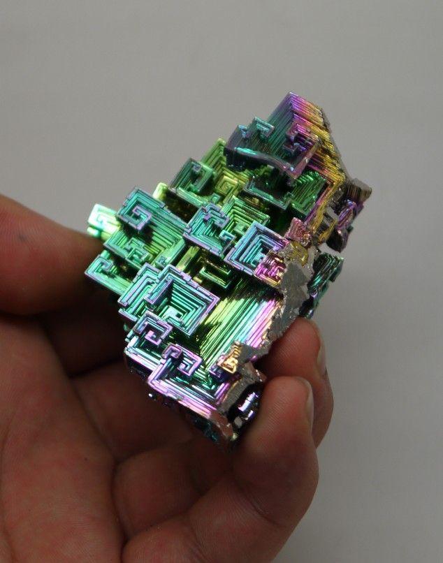 Высокое качество радужные кристалла висмута 98.98 г # A-578