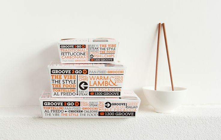 Take Away Packaging Design for the Groove Train | Melbourne and Brisbane #packaging #design