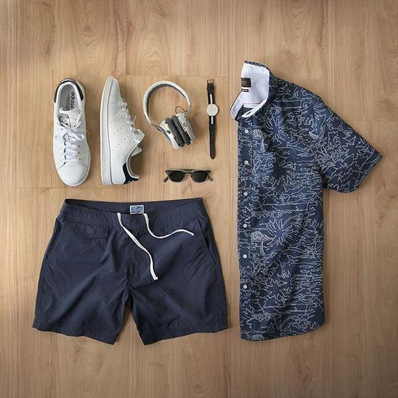 Gym shorts that double as swim trunks, Men's Apparel & Outfit Grid