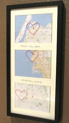 Where we met...  Where we married...  Where we live...