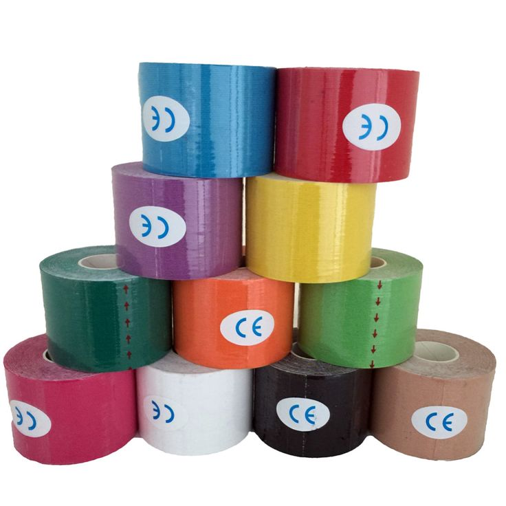 5M*5CM Sports Tape Kinesio Sports Physio Muscle Strain Injury Support Muscles Care Strap Sticker 1pcs. 80g