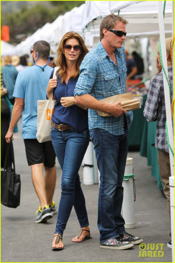 Cindy Crawford & Rande Gerber: Market Stop with Kaia & Presley | cindy crawford rande gerber farmers market kaia presley 01 - Photo Gallery | Just Jared