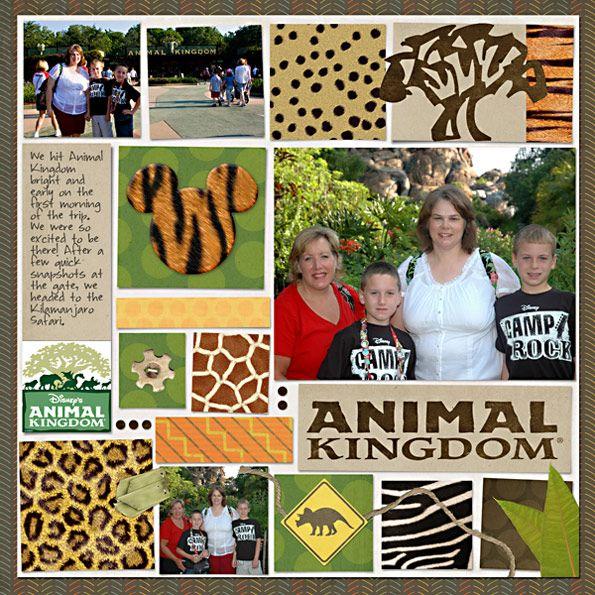 """Animal Kingdom"".  Love the blocks of animal print, especially Mickey's head."