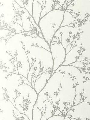 DecoratorsBest - Detail1 - Sch 5003340 - Twiggy - Silver - Wallpaper - - DecoratorsBest