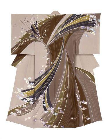 Yuzen kimono by Toku YUSUI, Japan