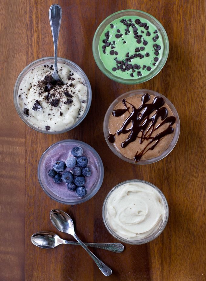 Ten different flavor options of creamy vegan banana ice cream you can make at home, with just a few ingredients and a blender!    Possibly one of the most frequent emails I receive is from readers re