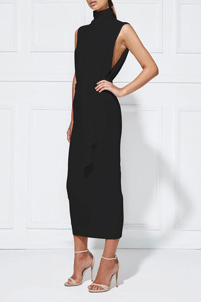 Misha Collection - Balbina Dress Ebony