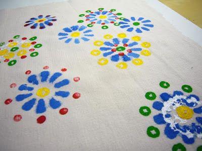 Textiel handwerken: Druktechniek op textiel