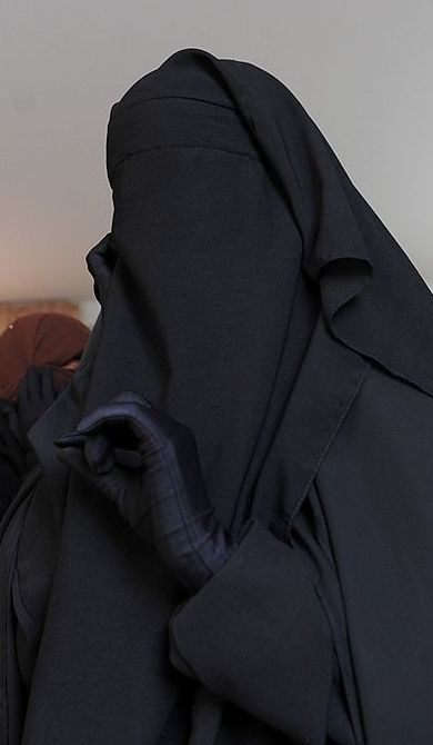 Egyptian University Student Fully Veiled in Niqab
