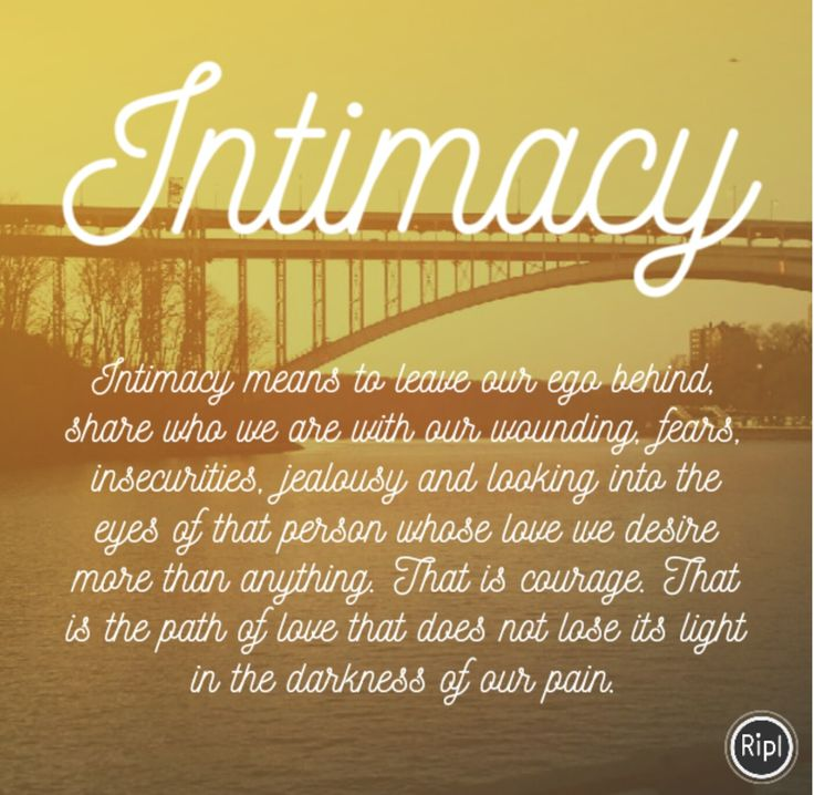What is Intimacy?