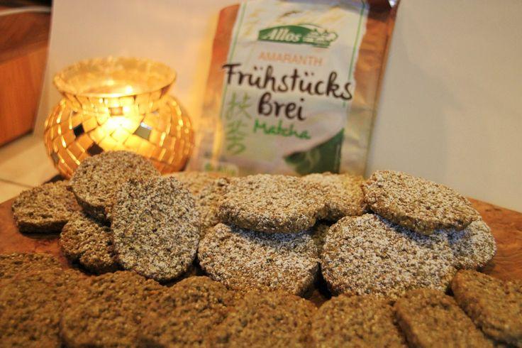 Matcha Frühstücksbrei Cookies