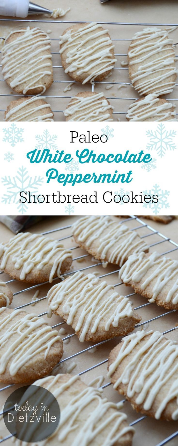 The flavor of white chocolate and peppermint in a slightly crisp (sugar-free, if you like!) cookie is simply divine. These Paleo White Chocolate Peppermint Shortbread Cookies are made with the simplest, whole ingredients and can banish a case of the winter blues like nothing else! They're grain-free, dairy-free, egg-free, and can be low-carb with a sweetener swap!