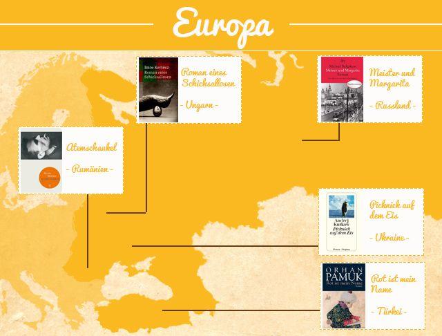In 100 Büchern um die Welt - Romane aus Rumänien, Ungarn, Russland, Ukraine, Türkei