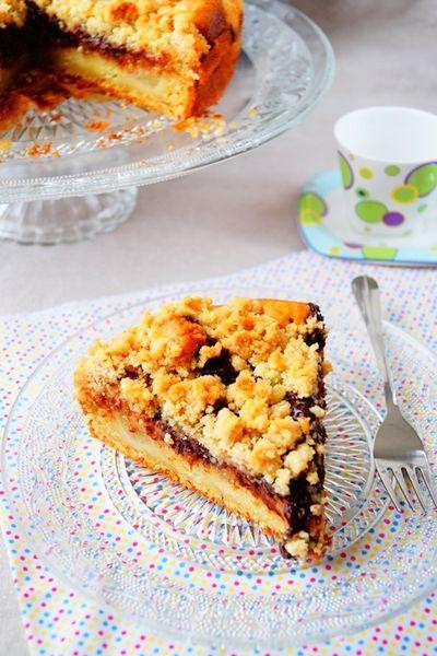 Gâteau crumble aux poires & au chocolat