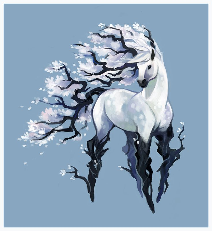 Ohhhh, maybe this can go in my story...ice horses run wild in the forest seeking for someone to tame them.