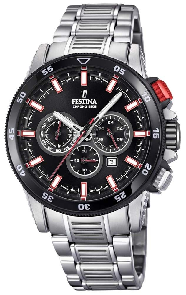 334dd899848 The red push button of this Festina F20352 4 Chrono Bike 2018 watch (43mm