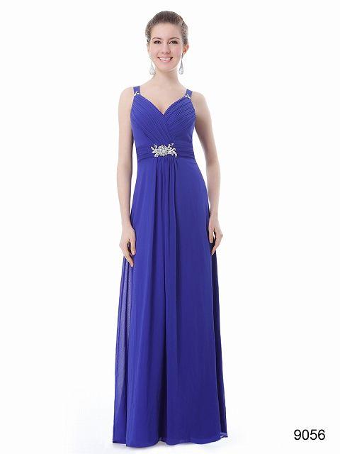 鮮やかブルー!! Vネックイブニングロングドレス♪ - ロングドレス・パーティードレスはGN 演奏会や結婚式に大活躍!