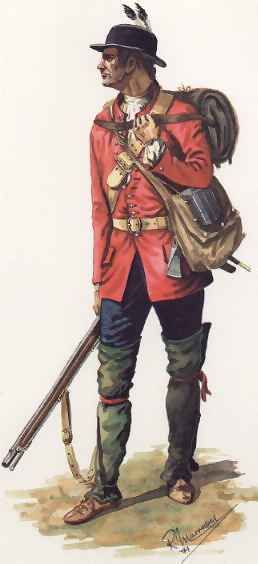 18th century Royal American (60th Regiment of Foot) In 1830 the regiment was renamed The King's Royal Rifle Corps.