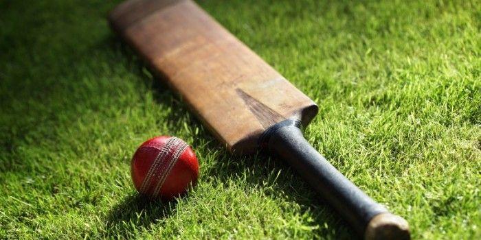A cricket bat and ball