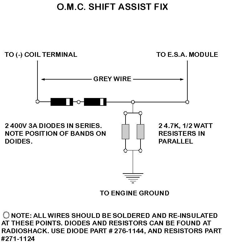 Pertronix Upgrade Circuit For Omc Cobra With Esa Module Omc Gmc Motorhome Circuit