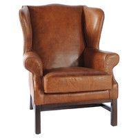 High back leather chairs for the master bedroom fireplace sitting area