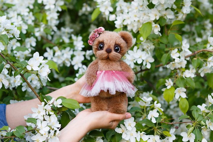 Artist collectible Teddy bear Rose (OOAK) by TEDDYROOM on Etsy